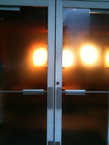 Cozy : inviting doors of @starbucks on an evening of snow n sleet #photo # shotwithiphone