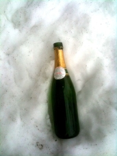 Champagne and the snow white