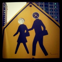 Signboard valentines : a mischief on the sign by the road #photo #shotwithiphone