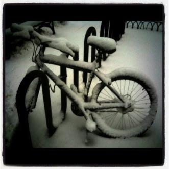 Snow white's bicycle #photo