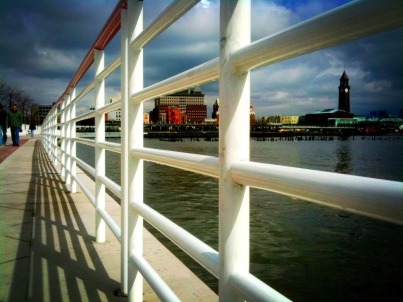 The clock tower through the Rails #iphoneography #photography #Hoboken