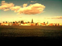 Empire stands in shade while city basks in sun light#iphoneography #photography