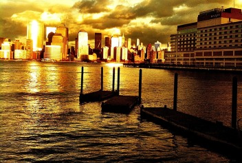 The NYC golden sunset