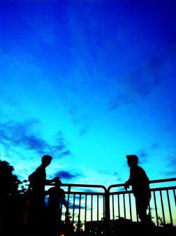 Conversations under a velvet sky