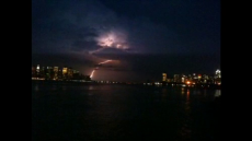 Lightning strike over Hudson river and New York #iphoneography #video #NYC