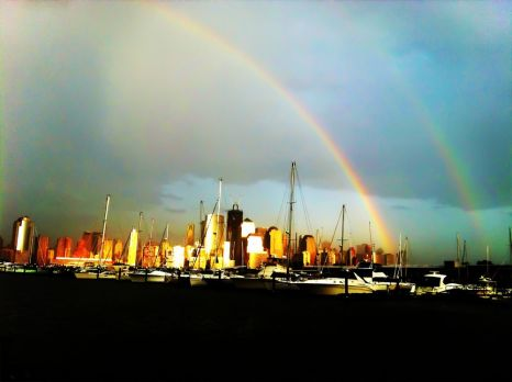 Double #rainbow over New York City #iphoneography #photography #NYC