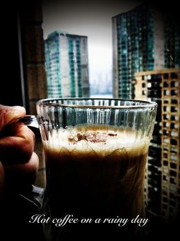 The joy of sipping hot coffee on a rainy day #iphoneography #photography