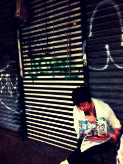 Curious about the news #iphoneography #photography #streetphotography #Chinatown #NYC