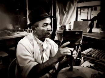 The portrait of a cigar maker #iphoneography #photography #Hoboken #people
