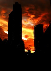 Living under a red sky, sunset over #jerseycity #iphoneography #photography #sunset