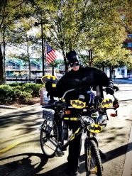 Batman goes green, look at his all new Eco friendly bat mobile #iphoneography #photography #batman #hoboken