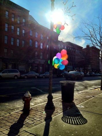 Balloons on a street always bring joy #iphoneography #photography #Hoboken