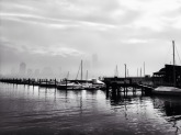 New York on a foggy morning, like a pencil. Sketch on a white sheet #iphoneography #photography #nyc #fog