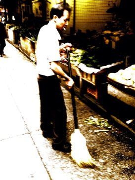 As I sweep the streets once I owned #iphoneography #photography #chinatown