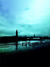 Is it the blues in my head? #iphoneography #photography #hoboken #nyc
