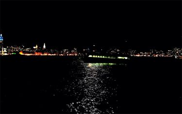 A Ferry ride on a moonlit Hudson along #NYC #iphoneography #photography