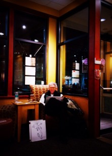 The artist at the coffee shop #iphoneography #photography #hoboken