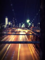 Standing on the bridge seeing NYC go by