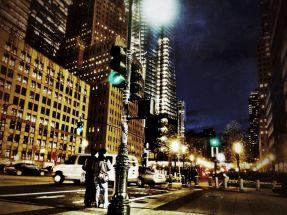 Walking down downtown NYC
