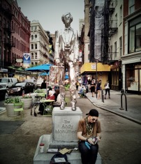 Sitting under the Andy warhol statue, aspiring to be one #iphoneography #photography