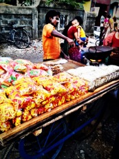 Maker of Fresh Fryums, pop corn and other tasty snacks #iphoneography #photography #india #streetfood #mumbai