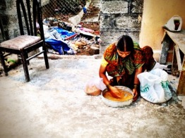 Sifting the grain the old indian style