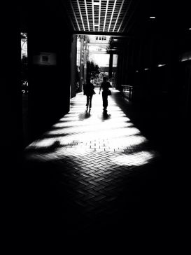 Waking together in to the light #iphoneography #photography #blackandwhite #people