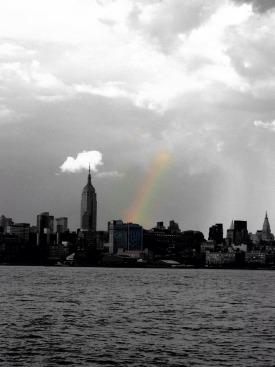 What's prettier than a view of NYC downtown.... A rainbow over it :) #iphoneography #photography #NYC