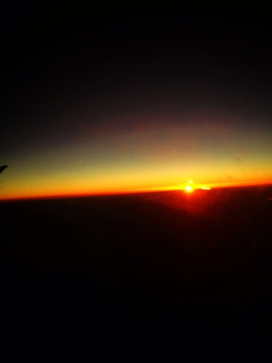 Sun rise from miles high, shot from an airplane #iphoneography #photography #sunrise