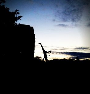 Cartwheels in the park