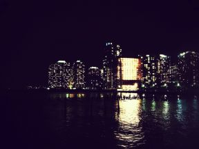 Like an electric bulb among candles, be building at New port #jerseycity #iphoneography #photography