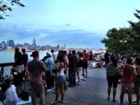 The gathering crowds and the gearing up barges for 4th July Macy's fire works #NYC #iphoneography #photography