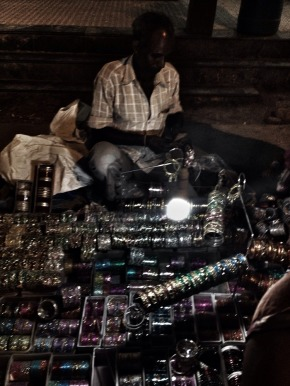 The many acts involved in selling bangles on the street #iphoneography #photography #india #streetphotography