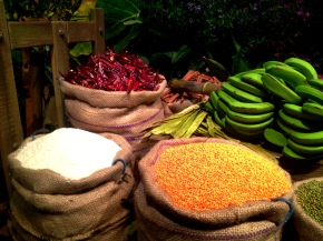The spice market on Indian street