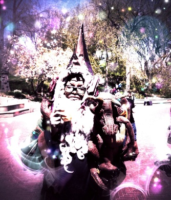 The wizard in the park