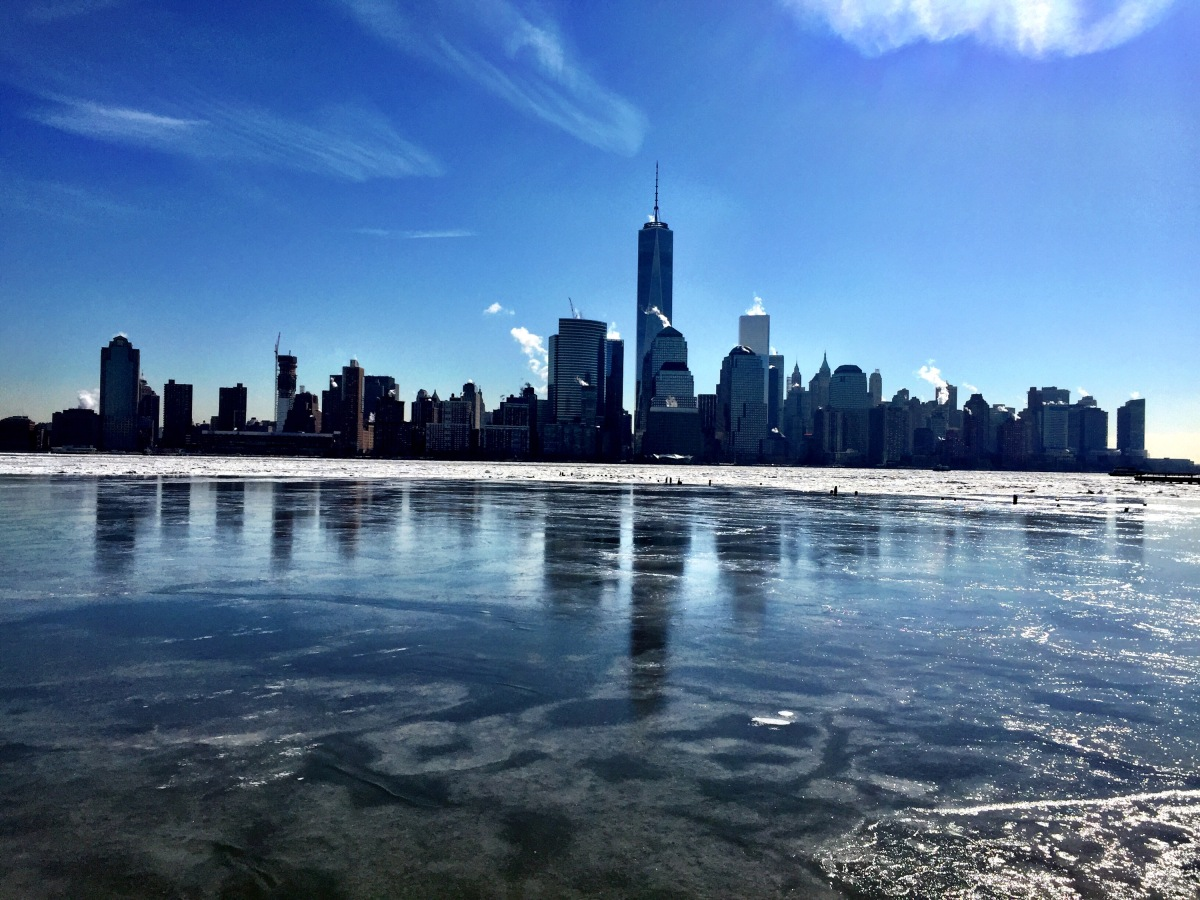 Frozen Hudson, can I walk across to NYC now #iphoneography #photography #winter